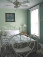 Bedroom with Queen Bed and Bathroom