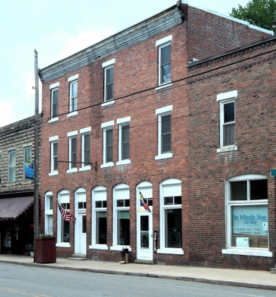 Our suites are on the top floor of the Burner Building in downtown Durbin, WV, built for Dr. A. E. Burner, about 1916.
